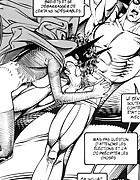 Dude with a big cock banging his fife so loudly in sex comics