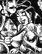 Gentle fucking action in adult art comics