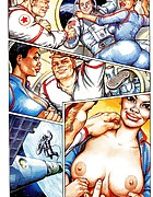 Cosmonaut drills babe in extra hot adult comics