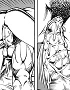Bold dick and muscle girl fuck in sex comics