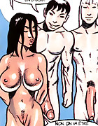 Dirty shower threesome porn comics
